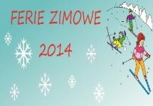 HARMONOGRAM FERII ZIMOWYCH 2014
