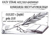 XXIV FINAŁ MIEJSKO-GMINNEGO KONKURSU RECYTATORSKIEGO