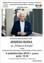 WYKŁAD INAUGURACYJNY PROF. JERZEGO BUZKA PT.