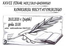 XXVII FINAŁ MIEJSKO-GMINNEGO KONKURSU RECYTATORSKIEGO