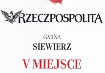 AWANS GMINY SIEWIERZ W RANKINGU SAMORZĄDÓW RZECZPOSPOLITEJ 2016!