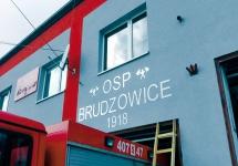 KOLEJNY ETAP PRAC W REMIZIE OSP W BRUDZOWICACH