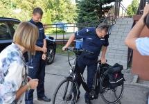 ROWERY OTRZYMANE Z GZM ZOSTAŁY PRZEKAZANE DO KOMISARIATU POLICJI W SIEWIERZU