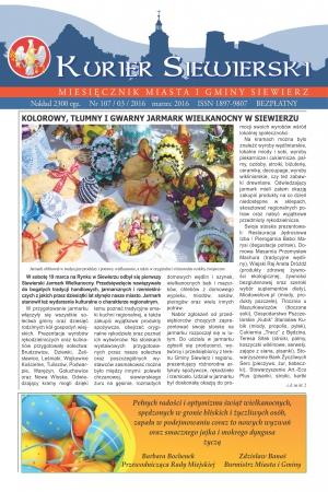 KURIER SIEWIERSKI NR 107/03/2016