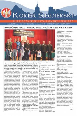 KURIER SIEWIERSKI NR 108/04/2016