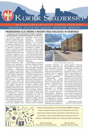 PRASA LOKALNA KURIER SIEWIERSKI NR 112/08/2016