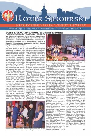 PRASA LOKALNA KURIER SIEWIERSKI NR 114/10/2016