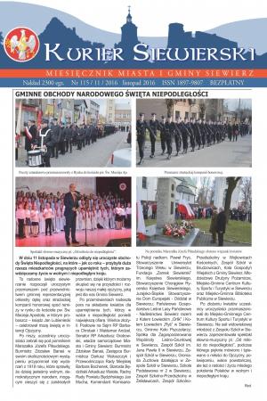 KURIER SIEWIERSKI NR 115/11/2016