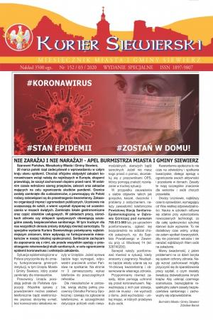 KURIER SIEWIERSKI NR 152/03/2020 - WYDANIE SPECJALNE
