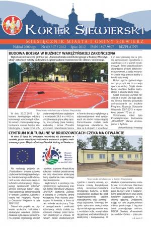 KURIER SIEWIERSKI NR 63/07/2012