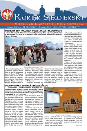 KURIER SIEWIERSKI NR 72/04/2013