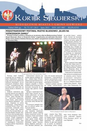KURIER SIEWIERSKI NR 75/07/2013