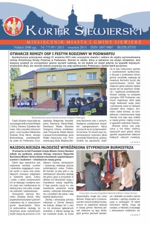 KURIER SIEWIERSKI NR 77/09/2013