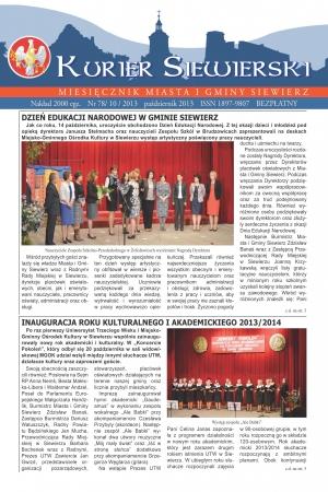 KURIER SIEWIERSKI NR 78/10/2013