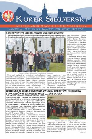 KURIER SIEWIERSKI NR 79/11/2013