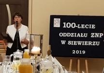 JUBILEUSZ 100-LECIA ODDZIAŁU ZWIĄZKU NAUCZYCIELSTWA POLSKIEGO W SIEWIERZU  ORAZ  80-LECIE TAJNEJ ORGANIZACJI NAUCZYCIELSKIEJ